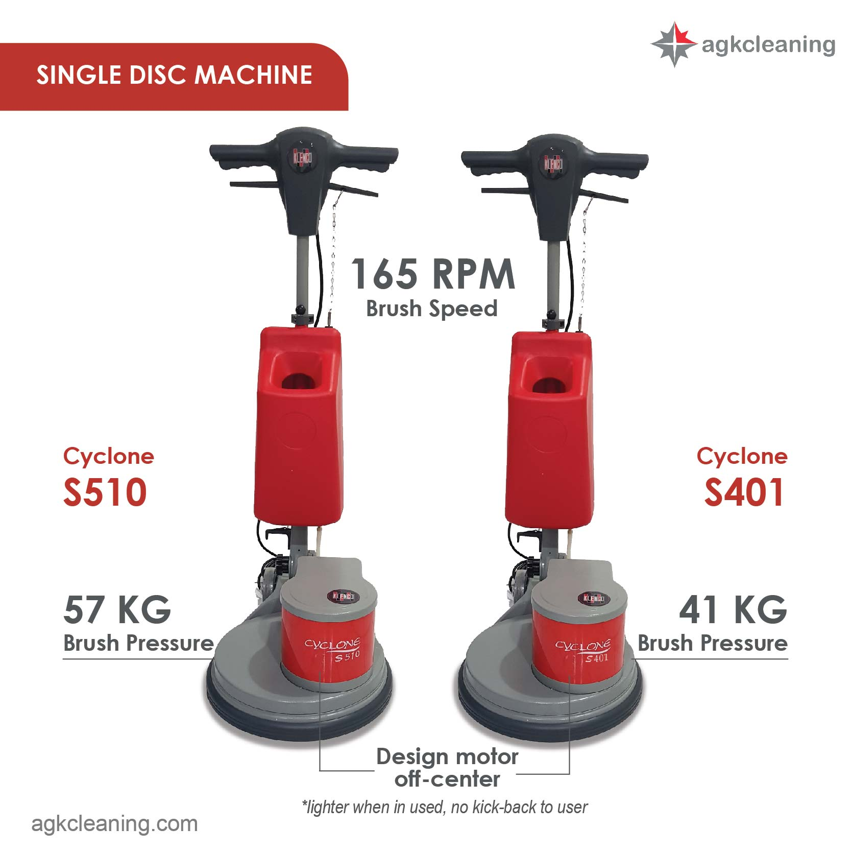 <span style='color:#000;font-size:18px;font-weight:700;'>CYCLONE S510</span><br><span style='color:#000;font-size:14px !important;font-weight:400!important;'>Single Disc Machine (57KG)</span>