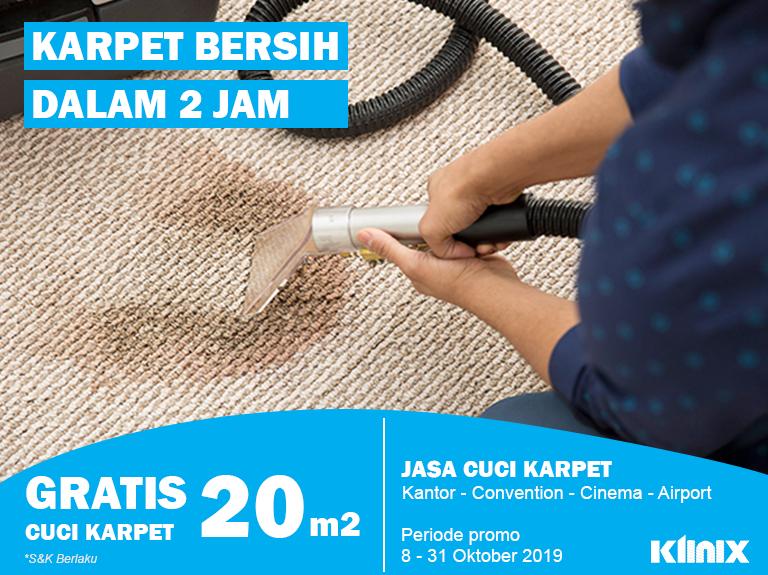 Promo Jasa Cuci Karpet Klinix