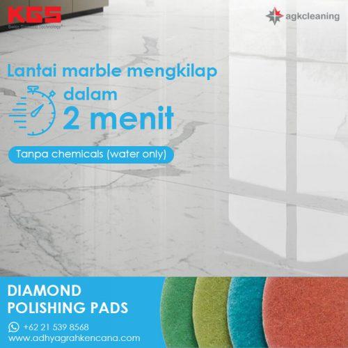 KGS Diamon Polishing Pad - 2 menit - Kristalisasi Marmer Marble - Poles Kritalisasi