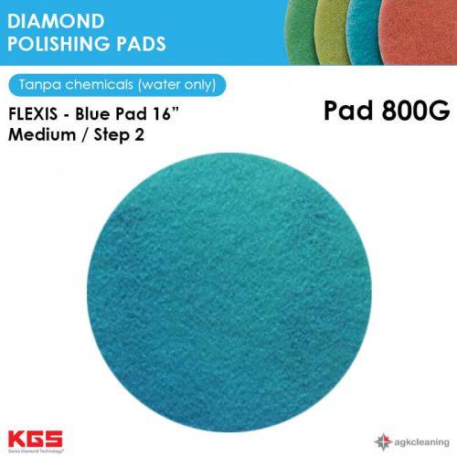 KGS Diamon Polishing Pad Blue 16 - Kristalisasi Marmer Marble - Poles Kritalisasi