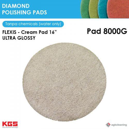 KGS Diamon Polishing Pad Cream 16 - Kristalisasi Marmer Marble - Poles Kritalisasi