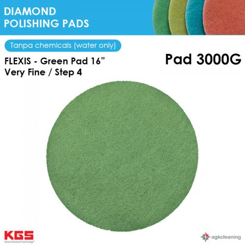 KGS Diamon Polishing Pad Green 16 - Kristalisasi Marmer Marble - Poles Kritalisasi