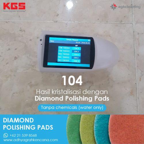 KGS Diamon Polishing Pad - Kristalisasi Marmer Marble - Poles Kritalisasi - Hasil Kristalisasi