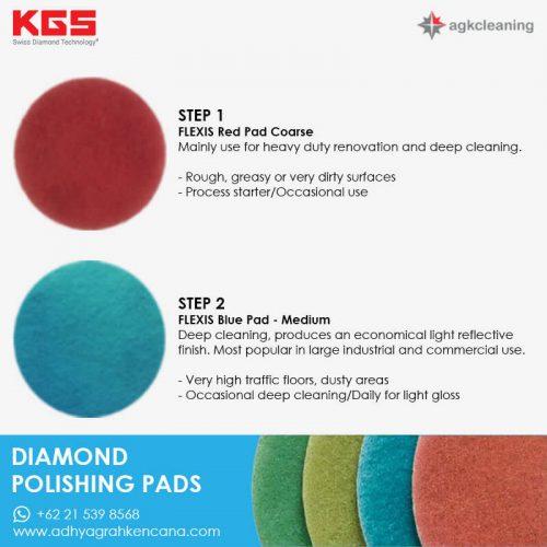 KGS Diamon Polishing Pad - Kristalisasi Marmer Marble - Poles Kritalisasi - Step (1 and 2)