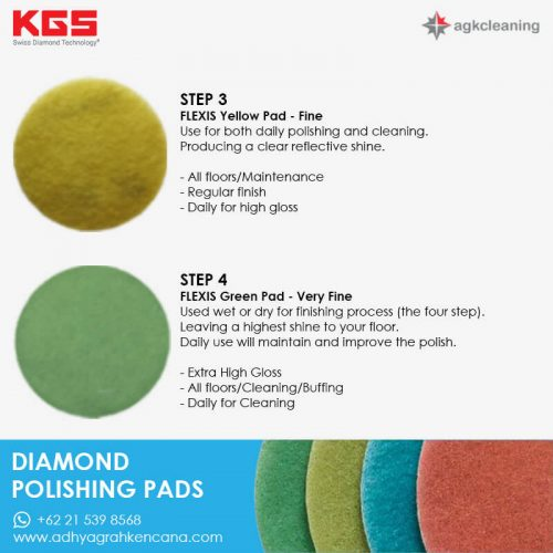 KGS Diamon Polishing Pad - Kristalisasi Marmer Marble - Poles Kritalisasi - Step (3 and 4)