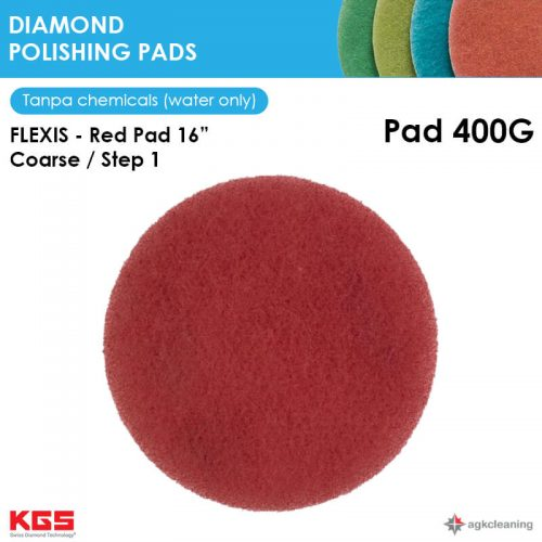 KGS Diamon Polishing Pad Red 16 - Kristalisasi Marmer Marble - Poles Kritalisasi