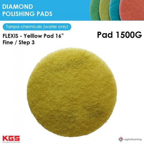 KGS Diamon Polishing Pad Yellow 16 - Kristalisasi Marmer Marble - Poles Kritalisasi