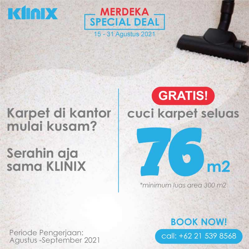 <span style='color:#000;font-size:18px;font-weight:700;'>Gratis Cuci Karpet 76 m2</span><br><span style='color:#000;font-size:14px !important;font-weight:400!important;'>[Promo Merdeka] Gratis cuci karpet seluas 76 m2</span>